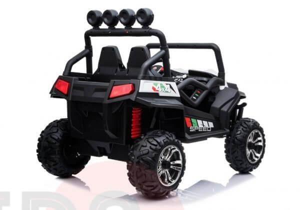 kidsvip 2 seater ride on utv buggy 2x12v rubber wheels toddlers kids white 7