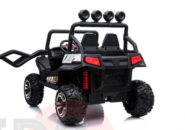 kidsvip 2 seater ride on utv buggy 2x12v rubber wheels toddlers kids white 8