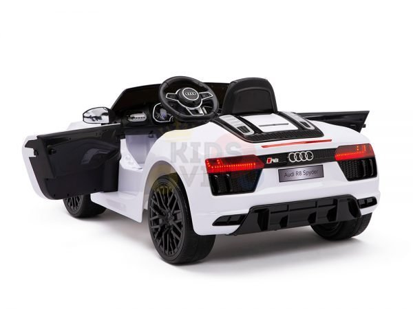 kidsvip audi r8 toddlers kids ride on car 12v white 14