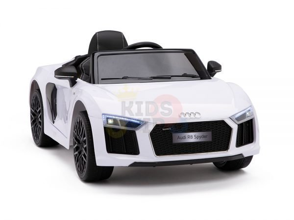 kidsvip audi r8 toddlers kids ride on car 12v white 4