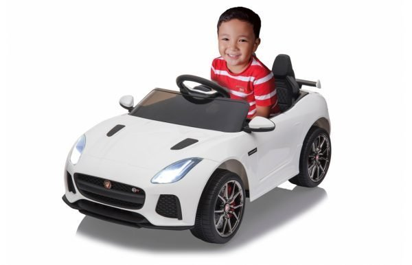 kidsvip jaguar kids and toddlers ride on car 12v white 1 1