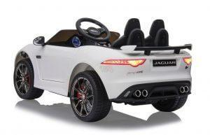 kidsvip jaguar kids and toddlers ride on car 12v white 3