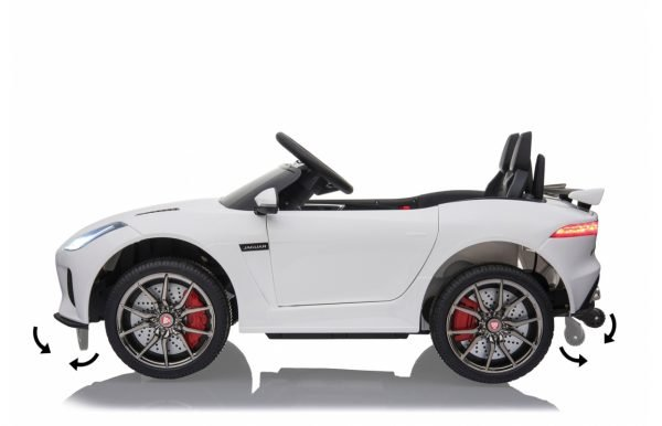 kidsvip jaguar kids and toddlers ride on car 12v white 5 1