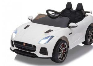 kidsvip jaguar kids and toddlers ride on car 12v white 5 2