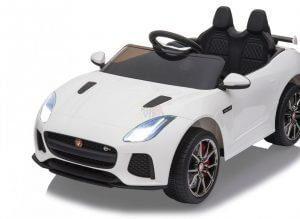 kidsvip jaguar kids and toddlers ride on car 12v white 7