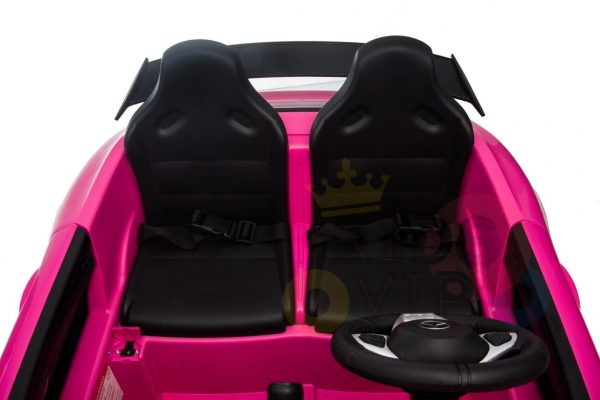 kidsvip mercedes benz gtr 2 seater kids and toddlers ride on car pink 13