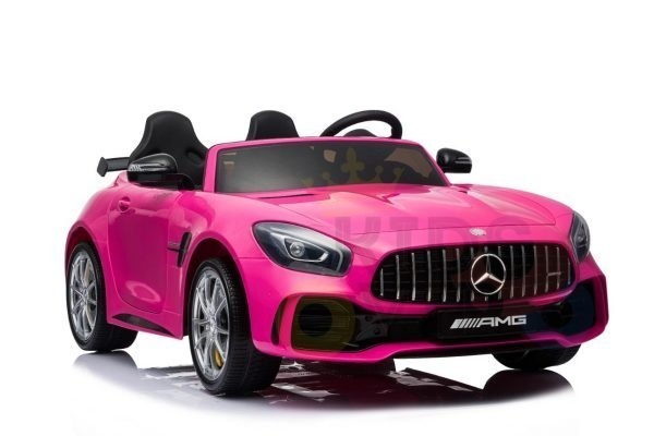 kidsvip mercedes benz gtr 2 seater kids and toddlers ride on car pink 4