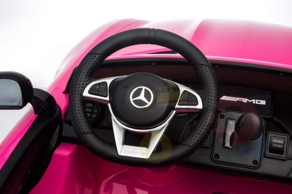 kidsvip mercedes benz gtr 2 seater kids and toddlers ride on car pink 9