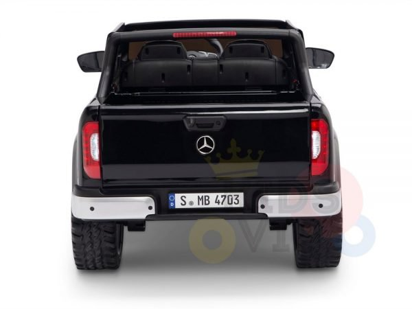 kidsvip mercedes x kids and toddlers ride on car truck 2x12v batteries black 15