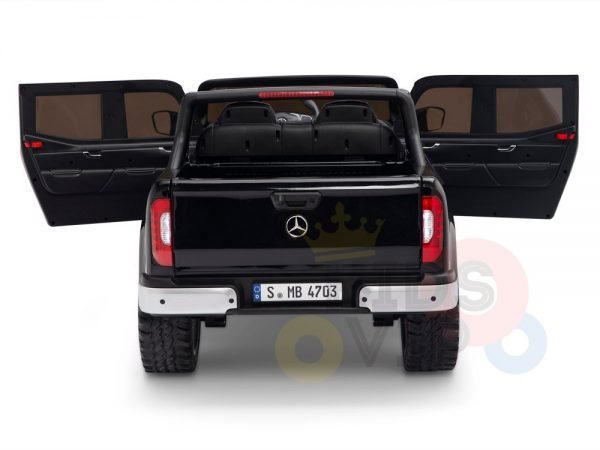 kidsvip mercedes x kids and toddlers ride on car truck 2x12v batteries black 16