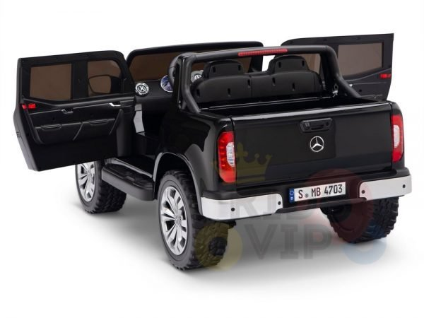 kidsvip mercedes x kids and toddlers ride on car truck 2x12v batteries black 17