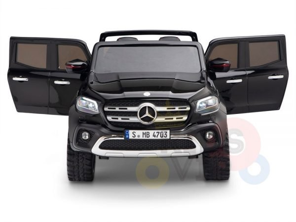 kidsvip mercedes x kids and toddlers ride on car truck 2x12v batteries black 2