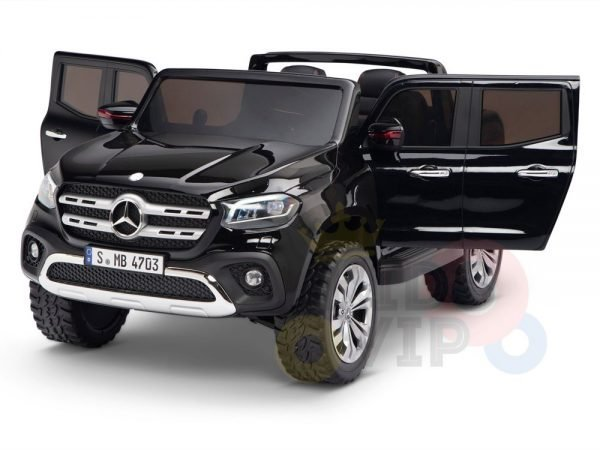 kidsvip mercedes x kids and toddlers ride on car truck 2x12v batteries black 21