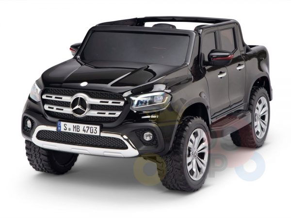 kidsvip mercedes x kids and toddlers ride on car truck 2x12v batteries black 22