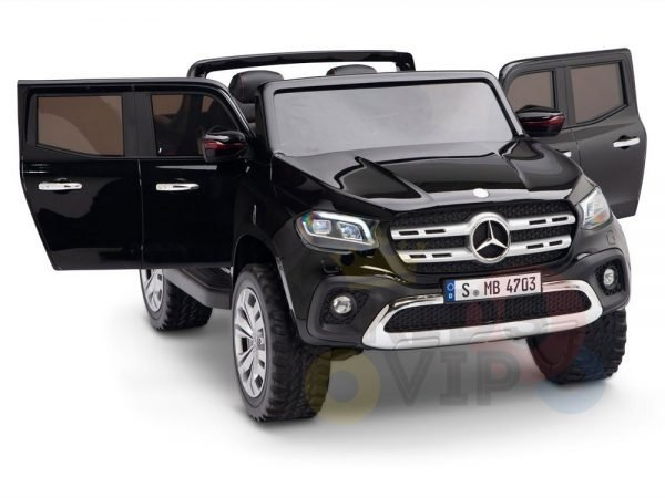 kidsvip mercedes x kids and toddlers ride on car truck 2x12v batteries black 3