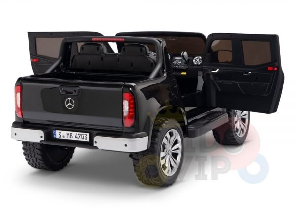 kidsvip mercedes x kids and toddlers ride on car truck 2x12v batteries black 9