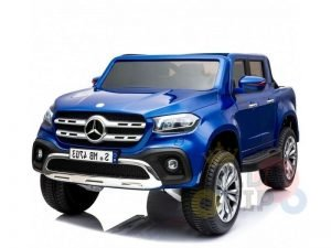 kidsvip mercedes x kids and toddlers ride on car truck 2x12v batteries blue 9