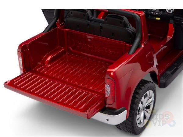 kidsvip mercedes x kids and toddlers ride on car truck 2x12v batteries red 11