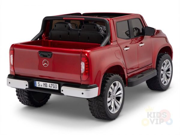 kidsvip mercedes x kids and toddlers ride on car truck 2x12v batteries red 13