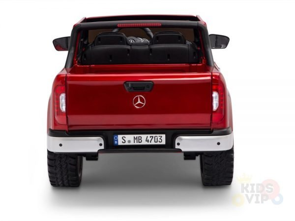 kidsvip mercedes x kids and toddlers ride on car truck 2x12v batteries red 14
