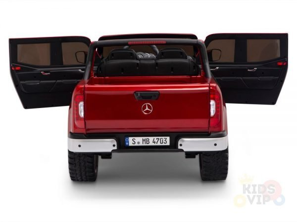 kidsvip mercedes x kids and toddlers ride on car truck 2x12v batteries red 15