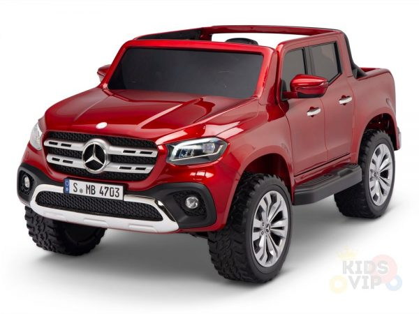 kidsvip mercedes x kids and toddlers ride on car truck 2x12v batteries red 21