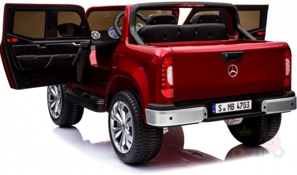 kidsvip mercedes x kids and toddlers ride on car truck 2x12v batteries red 25
