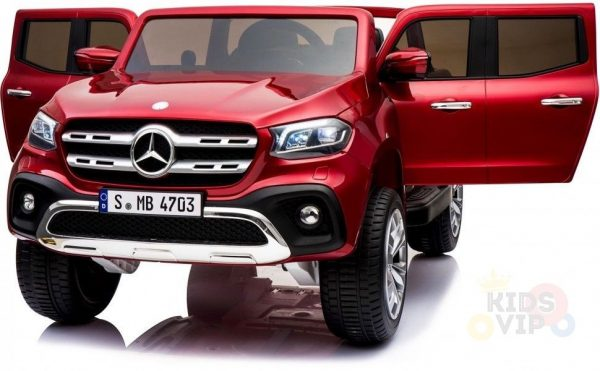 kidsvip mercedes x kids and toddlers ride on car truck 2x12v batteries red 26