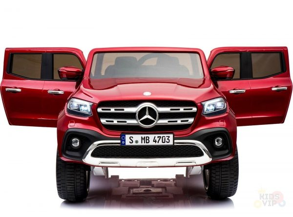 kidsvip mercedes x kids and toddlers ride on car truck 2x12v batteries red 28