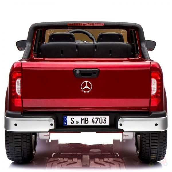 kidsvip mercedes x kids and toddlers ride on car truck 2x12v batteries red 32