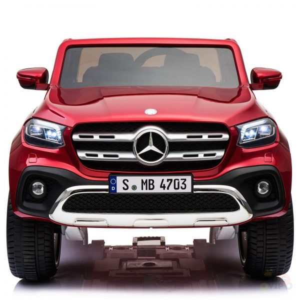 kidsvip mercedes x kids and toddlers ride on car truck 2x12v batteries red 33