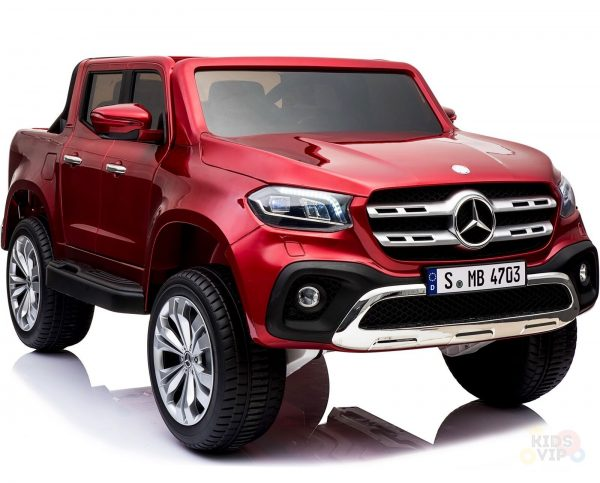 kidsvip mercedes x kids and toddlers ride on car truck 2x12v batteries red 35