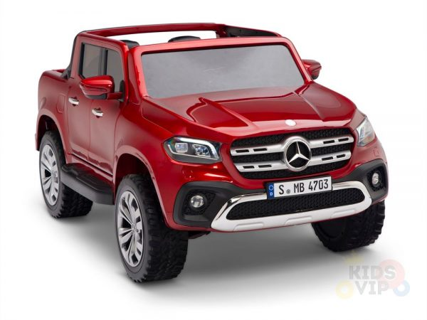 kidsvip mercedes x kids and toddlers ride on car truck 2x12v batteries red 5