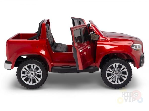 kidsvip mercedes x kids and toddlers ride on car truck 2x12v batteries red 7