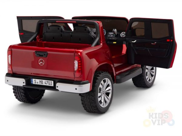 kidsvip mercedes x kids and toddlers ride on car truck 2x12v batteries red 8