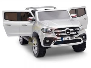 kidsvip mercedes x kids and toddlers ride on car truck 2x12v batteries silver 2
