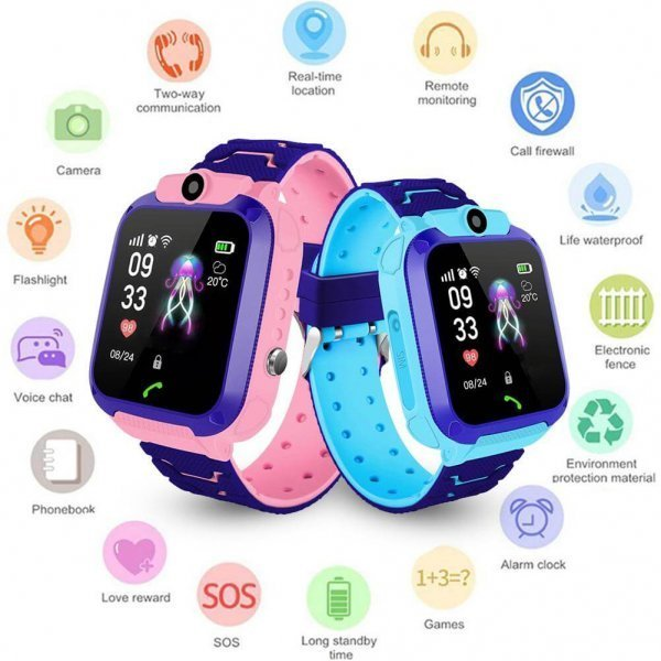 kids vip kids smart watch waterproof gps sos 8