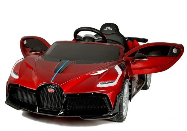 eng pl Electric Ride On Car Bugatti Divo Red Painted 4433 3
