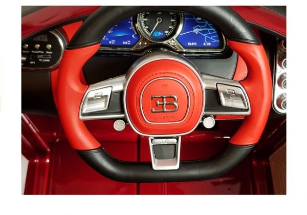 eng pl Electric Ride On Car Bugatti Divo Red Painted 4433 5