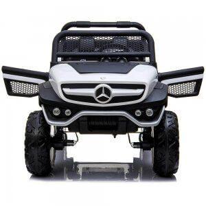 mercedes benz unimog ride on utv for kids leather seat rubber wheels 4 motors kidsvip 54