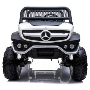 mercedes benz unimog ride on utv for kids leather seat rubber wheels 4 motors kidsvip 55