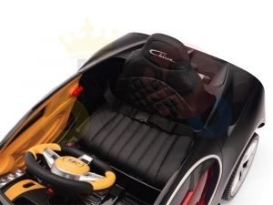 BUGATTI Kids toddlers ride car 12v rubber wheels rc leather seat remote control sport car super red paint 10
