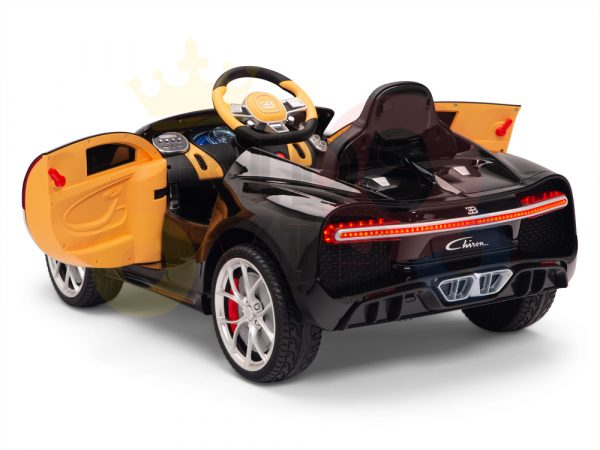 BUGATTI Kids toddlers ride car 12v rubber wheels rc leather seat remote control sport car super red paint 11