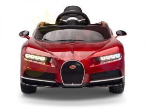 BUGATTI Kids toddlers ride car 12v rubber wheels rc leather seat remote control sport car super red paint 16