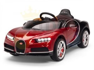 BUGATTI Kids toddlers ride car 12v rubber wheels rc leather seat remote control sport car super red paint 26