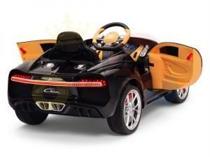 BUGATTI Kids toddlers ride car 12v rubber wheels rc leather seat remote control sport car super red paint 6