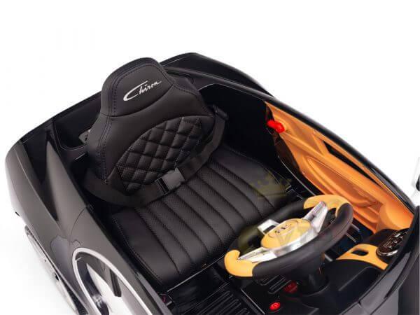 BUGATTI Kids toddlers ride car 12v rubber wheels rc leather seat remote control sport car super white 25