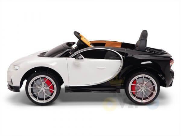 BUGATTI Kids toddlers ride car 12v rubber wheels rc leather seat remote control sport car super white 29