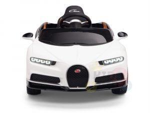 BUGATTI Kids toddlers ride car 12v rubber wheels rc leather seat remote control sport car super white 33