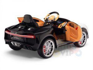 BUGATTI Kids toddlers ride car 12v rubber wheels rc leather seat remote control sport car super white 7